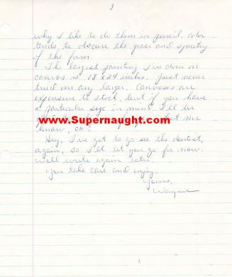 Elmer Wayne Henley prison letter signed - Supernaught True Crime Collectibles