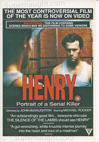 Henry Portrait of a Serial Killer movie postcard - Supernaught True Crime Collectibles
