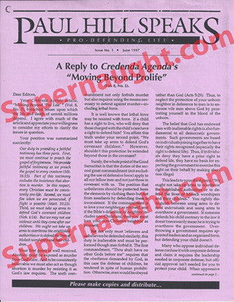 Paul Hill newsletter from death row - Supernaught True Crime Collectibles