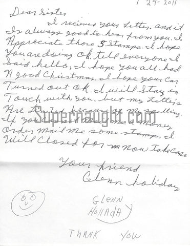 glenn holladay letter from death row signed