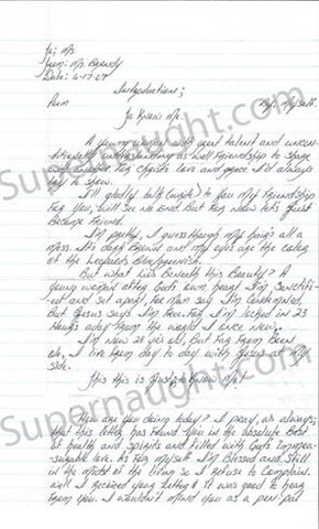 Brandy Holmes letter signed with envelope set - Supernaught True Crime Collectibles - 1