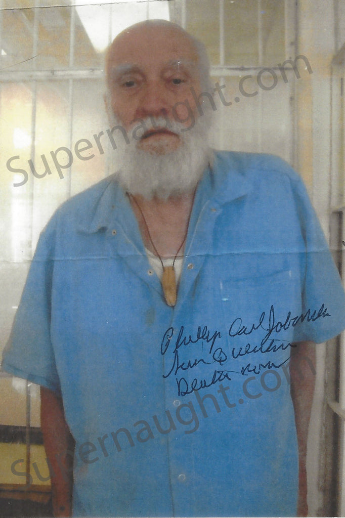 Phillip Jablonski Death Row Photo Signed in Full