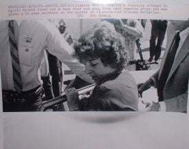 Genene Jones taken into custody press photo - Supernaught True Crime Collectibles