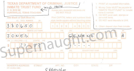 Genene Jones Inmate Trust Fund Form Signed - Supernaught True Crime Collectibles