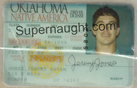 Jeremy Jones Oklahoma Drivers License
