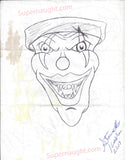 Steven Kasler Original Drawing Signed and Dated - Supernaught True Crime Collectibles - 2