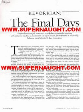 Jack Kevorkian The Final Days - Supernaught True Crime Collectibles
