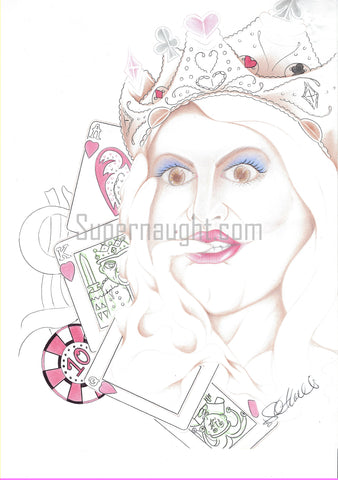 Scott Kimball insane Queen Drawing Signed