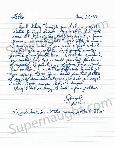 Richard Kuklinski Iceman 1998 Letter Signed - Supernaught True Crime Collectibles