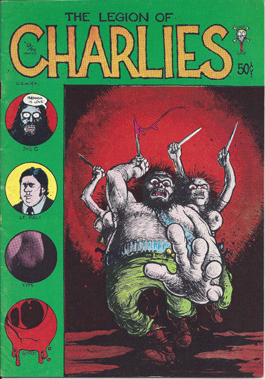 The Legion Of Charlies 1971 Last Gasp Comic Book 1st Printing - Supernaught True Crime Collectibles