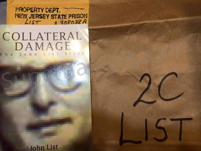 Collateral Damage The John List Story with envelope - Supernaught True Crime Collectibles