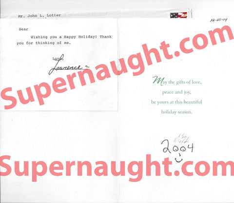 John Lotter Christmas card signed with prison envelope - Supernaught True Crime Collectibles