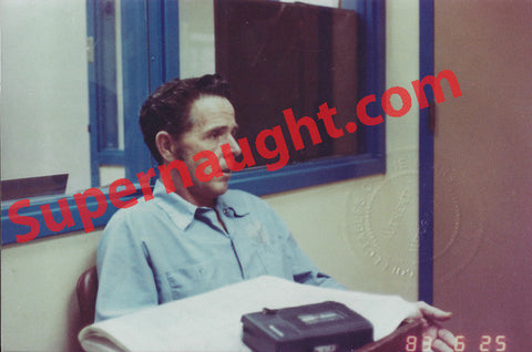 Henry Lee Lucas 1983 police interview color photo - Supernaught True Crime Collectibles