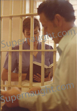 Henry Lee Lucas and Sister Clemmie county jail photo - Supernaught True Crime Collectibles