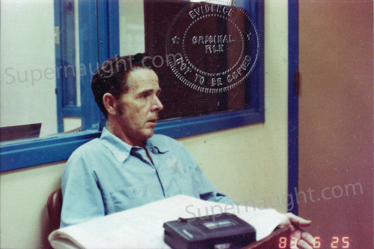 Henry Lee Lucas embossed 1983 evidence photo - Supernaught True Crime Collectibles