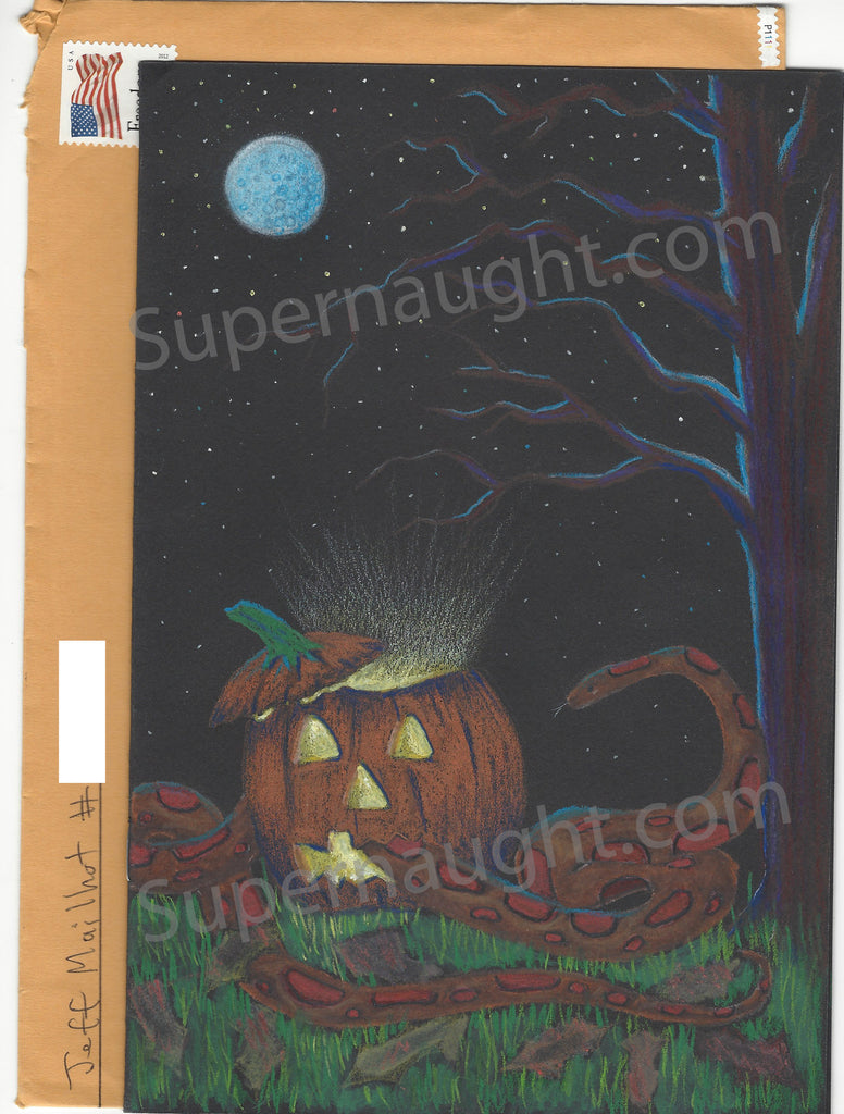 Jeffrey Mailhot Halloween Drawing Card Signed