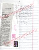 Larry Mann letter and envelope set both signed executed - Supernaught True Crime Collectibles - 2