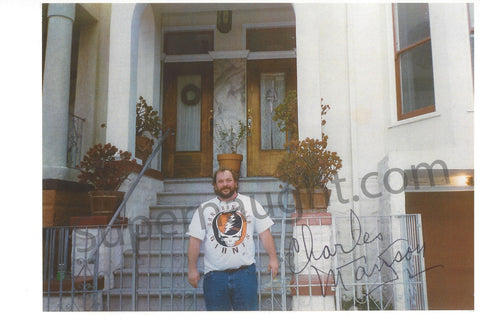 Charles Manson Signed San Francisco Apt Photo