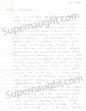Charles Manson Letter from Bruce Davis Relative with Response Signed by Manson - Supernaught True Crime Collectibles - 1
