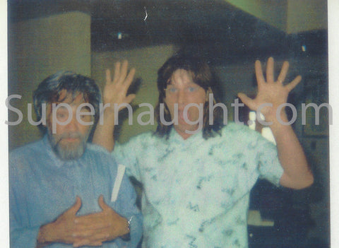 Charles Manson with Visitor Prison Photo