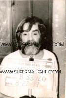 Charles Manson Pelican Bay mugshot photo - Supernaught True Crime Collectibles