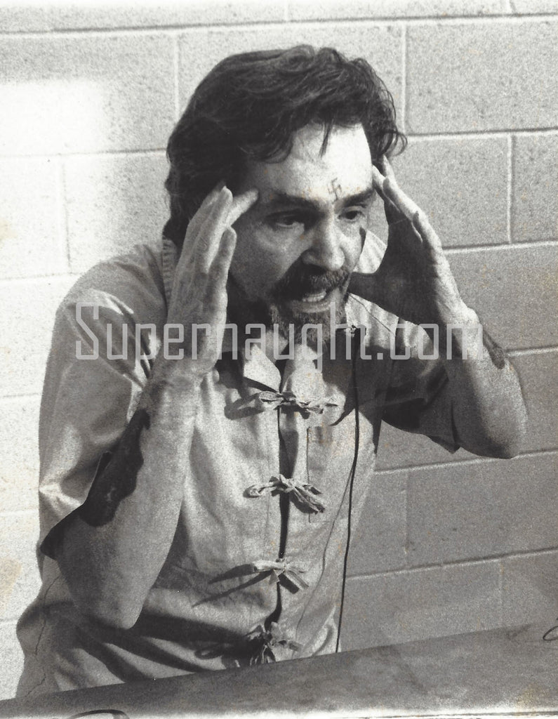 Charles Manson Four Prison Photos