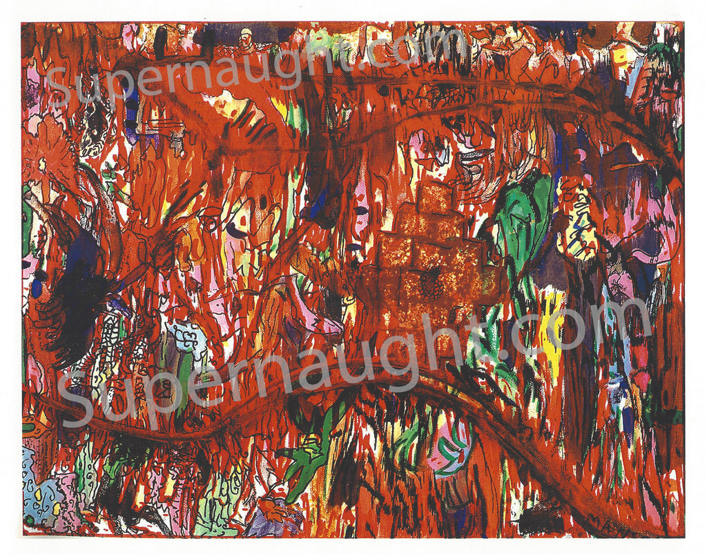 Charles Manson Abstract Expressionism Artwork Color Print - Supernaught True Crime Collectibles