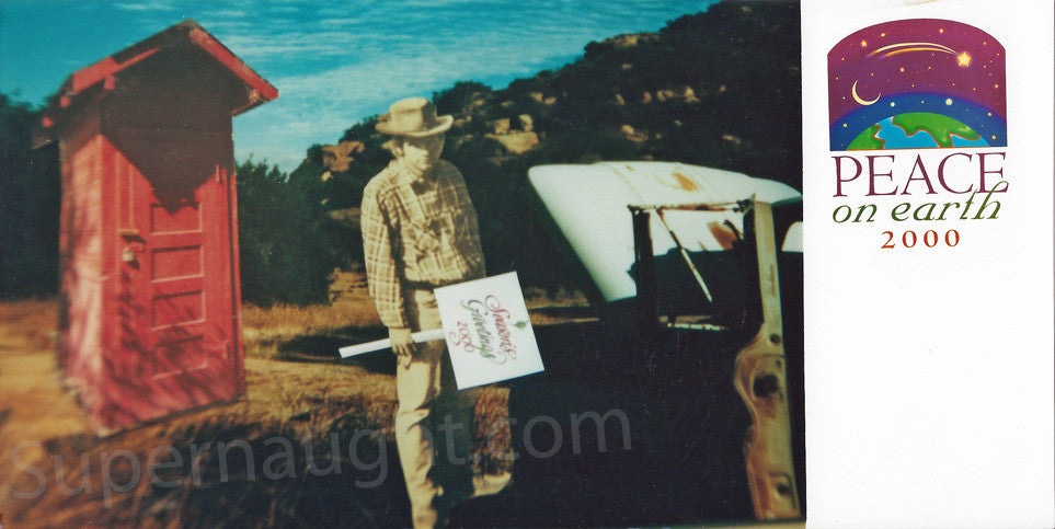 Charles Manson unused peace on earth Christmas card - Supernaught True Crime Collectibles