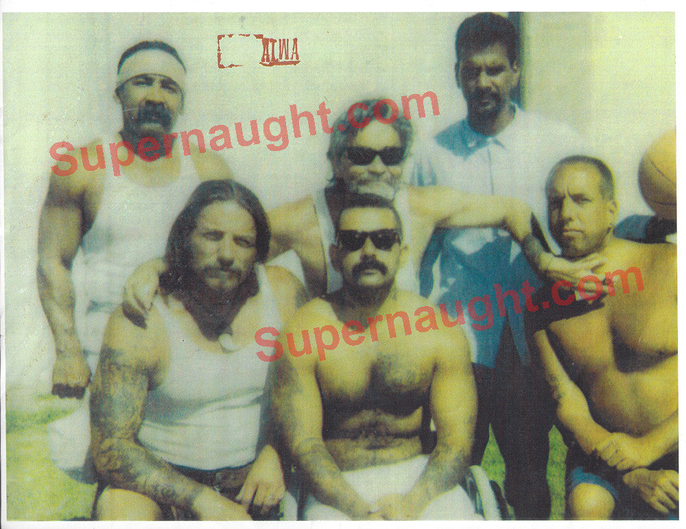 Charles Manson and PHU Inmates Prison Yard Photo - Supernaught True Crime Collectibles