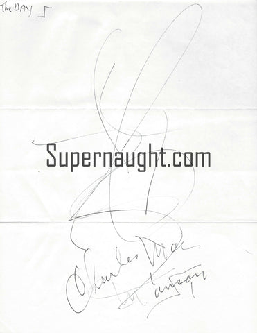 Charles Manson Signed Drawing The Day