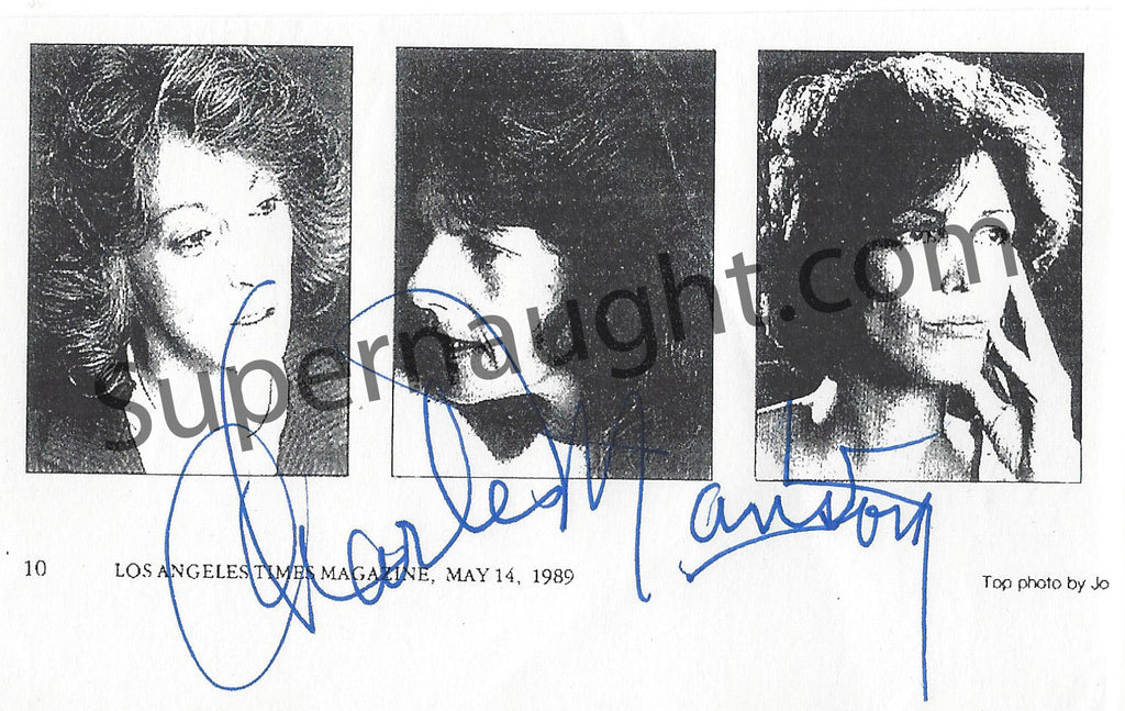 Notorious Manson Girls Photo Signed By Charles Manson
