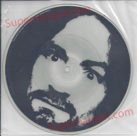 Charles Manson Garbage Dump Glow in the Dark Picture Disc Spahn Ranch Records - Supernaught True Crime Collectibles - 1