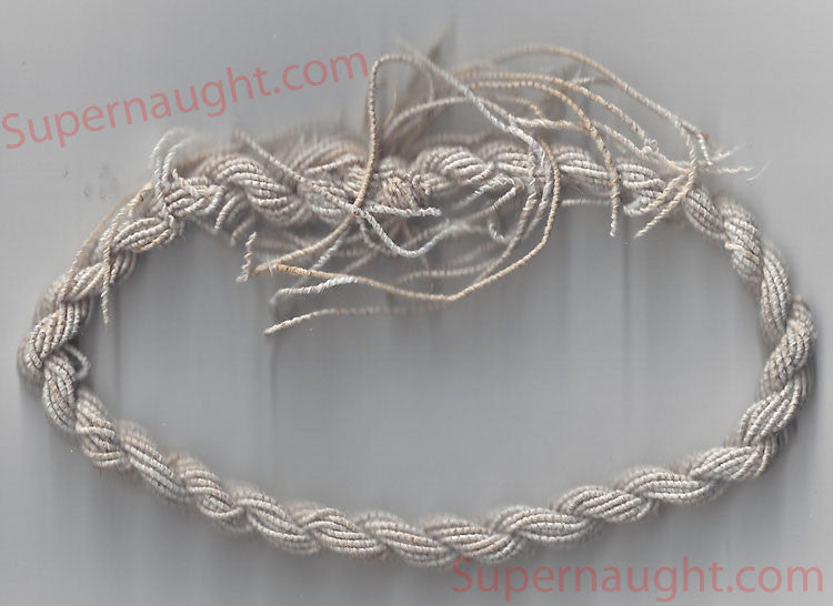 Charles Manson prison made string bracelet circa 1980s - Supernaught True Crime Collectibles
