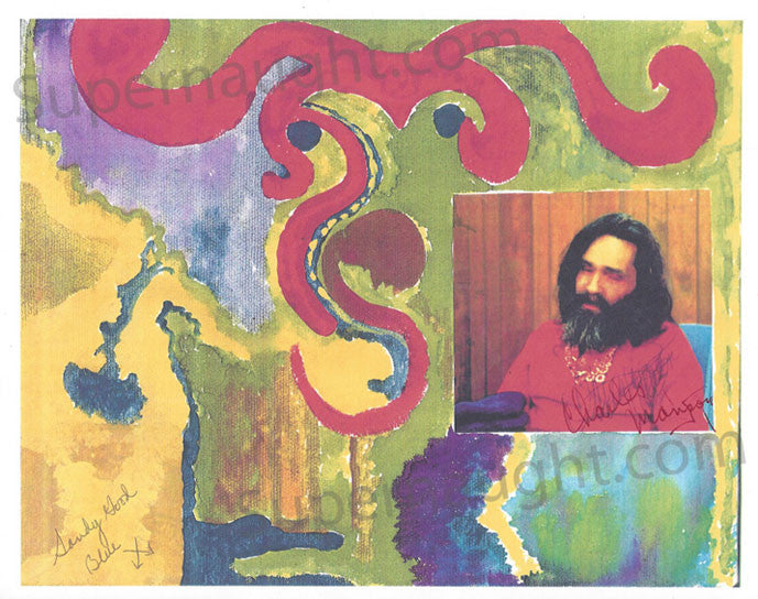Charles Manson Sandy Good artwork print signed - Supernaught True Crime Collectibles - 1