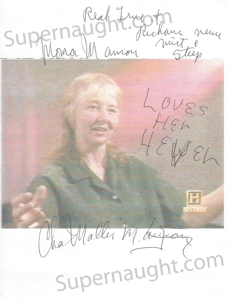 Charles Manson Signed Photo of Lynette Fromme