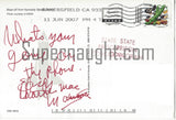 charles manson space center signed card