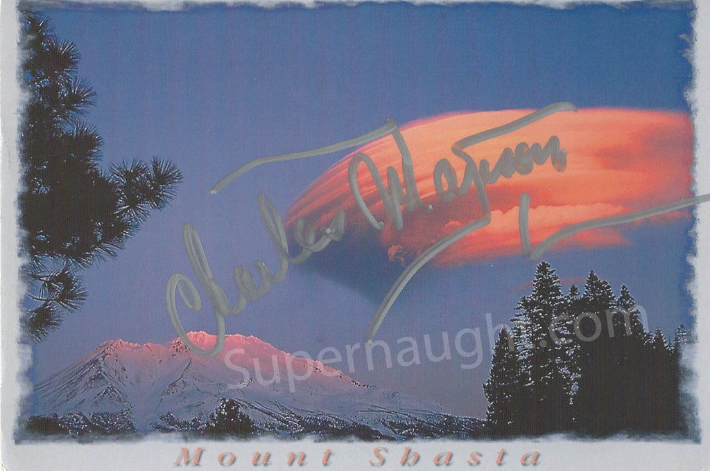 Charles Manson Postcard from a Fan Boldy Signed - Supernaught True Crime Collectibles - 1