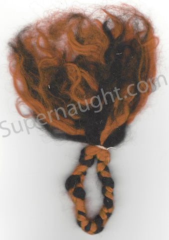 Charles Manson Red and Black Voodoo Doll String Artwork