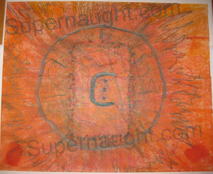 Charles Manson Steel Deal Signed Painting - Supernaught True Crime Collectibles - 1