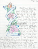 Bobby Joe Maxwell Signed Artwork Letter Serial Killer California