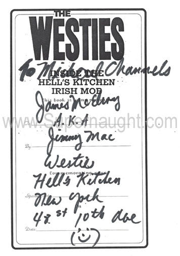 James McElroy The Westies Bookplate Signed - Supernaught True Crime Collectibles
