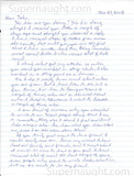 Michael Wayne McGray two page letter signed - Supernaught True Crime Collectibles - 1