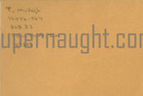 Timothy McVeigh Signed Prison Envelope