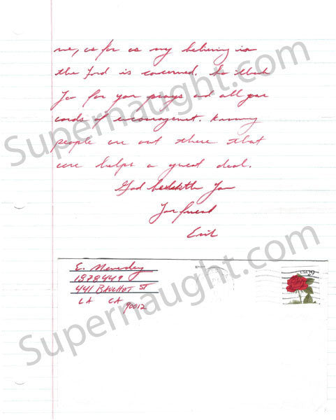 Erik and Lyle Menendez 1993 Signed Letters and Envelopes from County Jail - Supernaught True Crime Collectibles