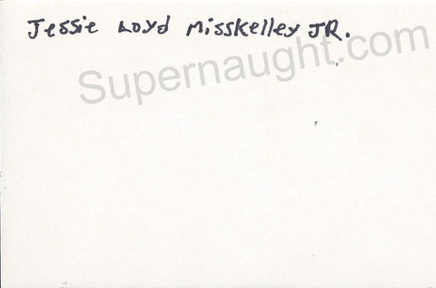 Jessie Loyd Misskelley Jr index card signed in full - Supernaught True Crime Collectibles