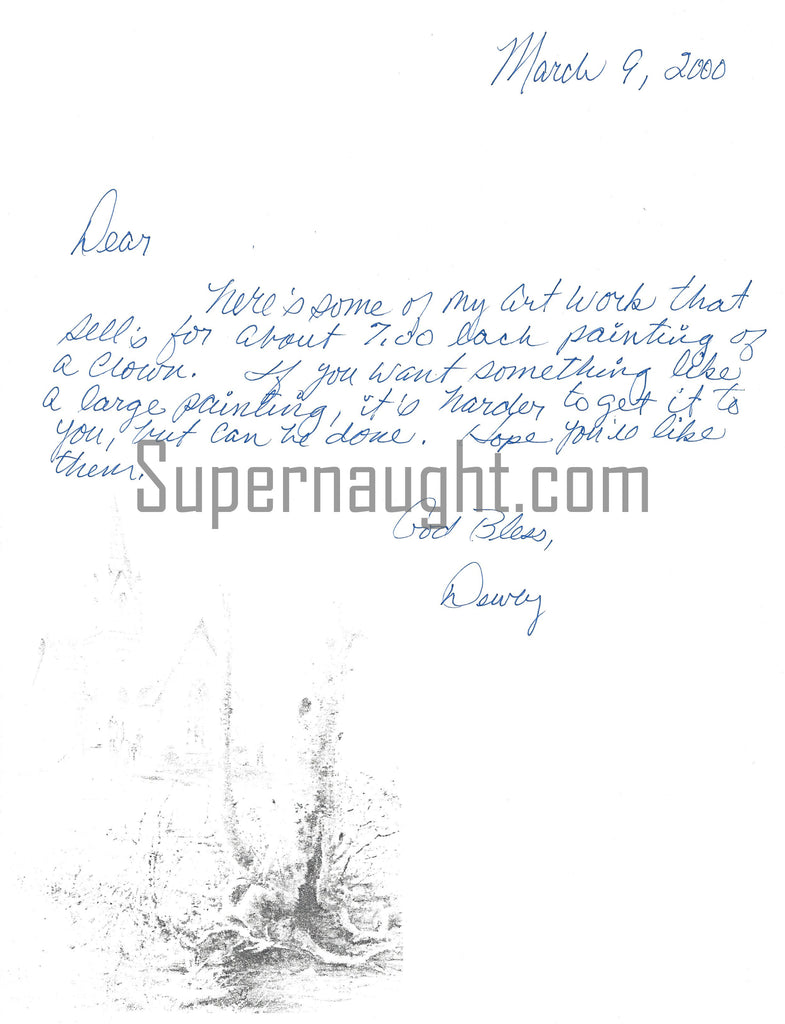 dewey moore signed letter death row