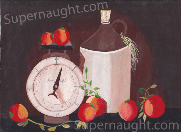 Dewey Moore Dewey Weight Painting Signed - Supernaught True Crime Collectibles