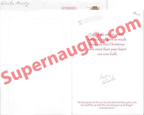 Winston Moseley Christmas card letter and envelope set signed - Supernaught True Crime Collectibles - 1