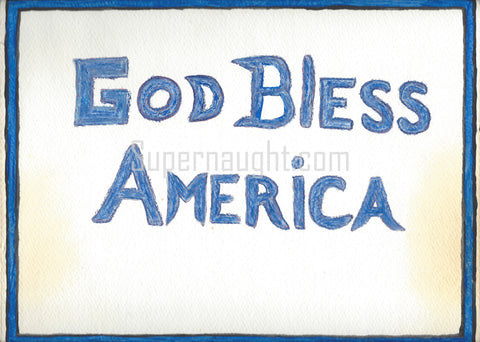 Herbert Mullin God Bless America Double Sided Artwork Signed