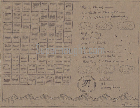 Herbert Mullin The I Ching Two Sided Illustration Artwork Signed Twice